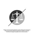 law firm logo design template scales logo vector image vector image
