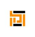 letter d square monogram logo vector image vector image