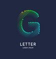 letter g latin alphabet display vector image