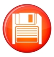 Magnetic diskette icon flat style vector image