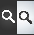 magnifying glass icon magnifier or loupe sign vector image vector image