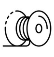 metal cable coil icon outline style vector image vector image