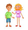 nice characters are a boy and a girl vector image