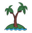 palm tree icon cartoon vector image vector image