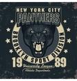 Panter Sport t-shirt graphics vector image vector image