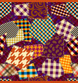 patchwork textile pattern seamless quilting vector image