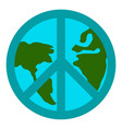 peace symbol icon vector image