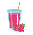 Raspberry juice in a glass Fresh isolated on vector image vector image