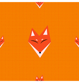 Red Fox Orange Background vector image vector image
