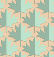 Retro fold green maple leaves vector image vector image