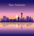 san antonio silhouette on sunset background vector image vector image