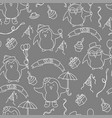 seamless birthday party pattern in vector image