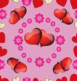 seamless pattern with pink hearts for Valentines D vector image vector image