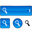 Searching button set vector image vector image