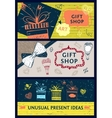 Set of banners for gift shop vector image