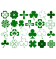 Set of different clovers set vector image