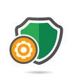 setting shield icon vector image