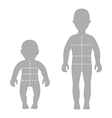 Silhouette child baby set vector image vector image