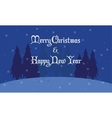 Silhouette of spruce Christmas landscape vector image vector image