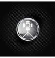 spotlight icon light for photocamera vector image vector image