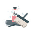 spring home cleaning concept icon vector image