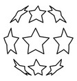 stars in shape of soccer ball icon black color vector image vector image