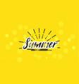 summer blured handwritten lettering bnner vector image vector image