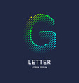 the letter g latin alphabet display vector image