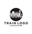 train logo design inspiration vector image
