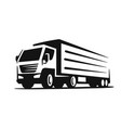 transport truck emblems on white background vector image vector image