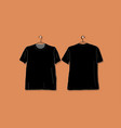 tshirt black mockup for your design vector image