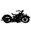 vintage american motorcycle silhouette vector image vector image