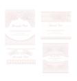 wedding reception card set vector image vector image