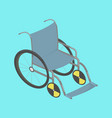 wheelchair isometric vector image vector image