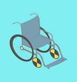 wheelchair isometric vector image