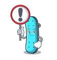 with sign skateboard character cartoon style vector image