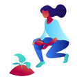 woman growing a plant isometric 3d vector image