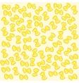 Yellow farfalle pattern Italian pasta vector image