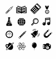 Education and learning icon set vector image