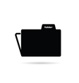 folder black silhouette vector image