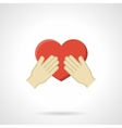 Cherish the love flat color icon vector image