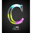 Design Light Effect Alphabet Letter C vector image