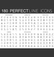 180 modern thin line icons set of entertainment vector image