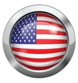 America flag metal button vector image vector image