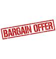 bargain offer stamp vector image vector image