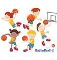 basketball 02 vector image vector image