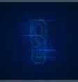 binary chain vector image vector image