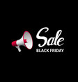 black friday announcement poster design vector image vector image