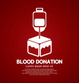 Blood Donation Graphic vector image vector image