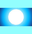 blue circle halftone abstract background vector image vector image